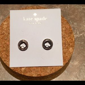 Kate Spade Spot the Spade Pave Crystal Earrings